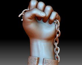 Black lives matter fist sign hand sign logo emblem 3D