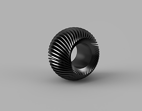 wheel with cuts and hole 3D print model