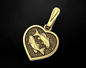 3D printable model Pendant Heart and sign of the zodiac