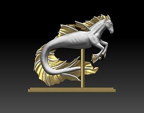 Seahorse 3D printable model ornament