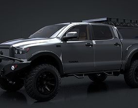 3D animated 2012 Toyota Tundra Rigged C4D