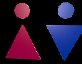 3D Symbols of gender voxel 6