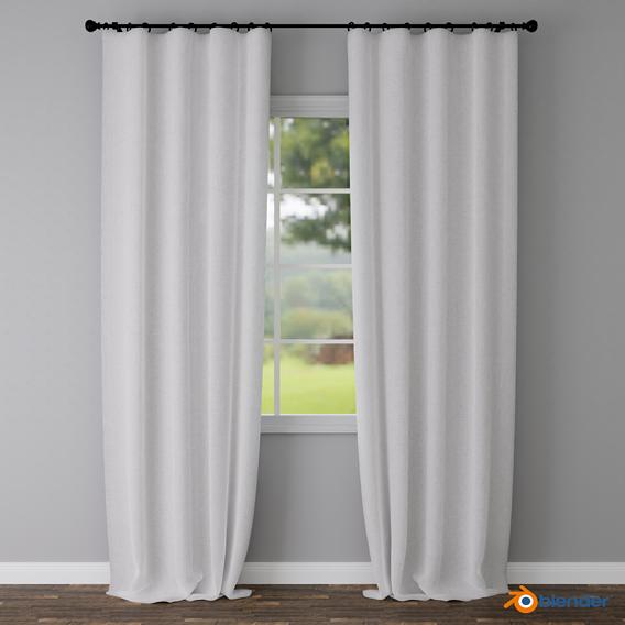 Curtain - Belgian Linen Blackout - Blender 2.91