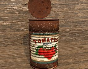 3D model Old Rusty Tomato Can