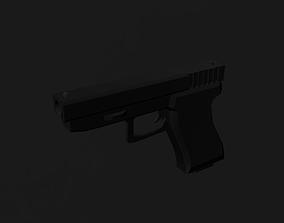 Glock-22 Low Poly 3D asset