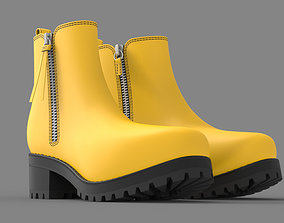 Yellow Boots for Woman 3D