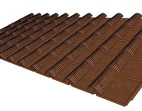 Roman roof tiles 3D ceramic