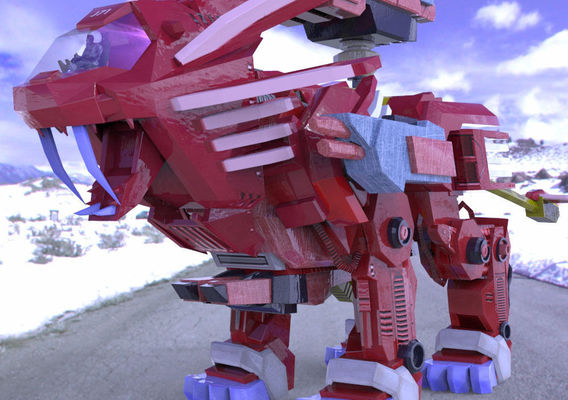 Robot Lion in the Snow