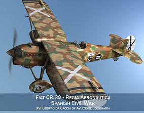 3D model Fiat CR 32 - Italy Air Force - XVI Gruppo