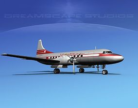 3D model Convair CV-340 Western Airlines