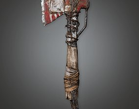 3D model PAM - Post Apoc Axe 01 - PBR Game Ready