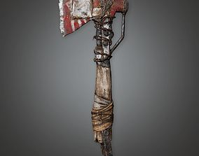 battle-axe Modded Axe 01a - PAM - PBR Game Ready 3D asset