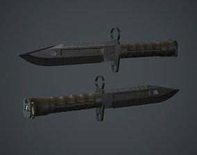 Black M9 Bayonet Knife PBR Game Ready 3D asset