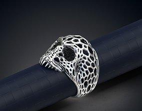Voronoi Skull Ring 3d model for 3d printing