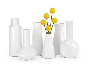 Ceramic vases set 3D