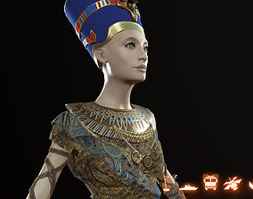 Nefertiti 3D asset rigged realtime