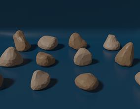 LowPoly Rock Set 1 3D asset