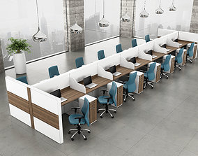 office workstation architecture table 3D