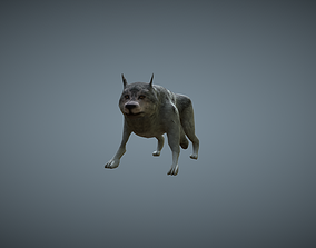 animated Wolf - low-poly model