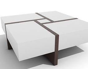 3D asset Rotated Glossy Blocks Coffee Table
