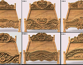 30 Luxury Bed carving Collection 3D model