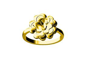 jewelry 3D print model rose ring