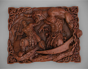 3D printable model Belt buckle Barbarian