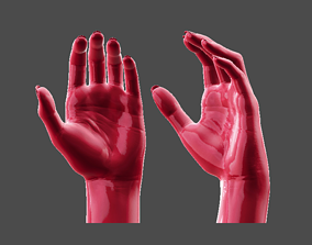 Detailed Female Hand Relaxed Pose 3D Printable