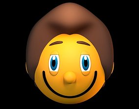 Hairy Smiley 3D model