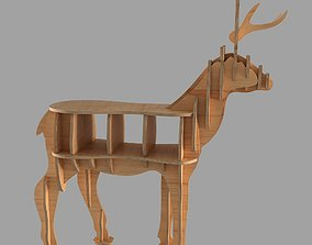 wood CNC vector for deer coffee table 3D