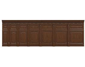 3D asset Threaded wood panels 013