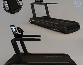 3D model Black Treadmill running