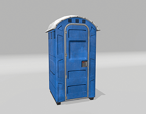 3D model low-poly Port-a-Potty