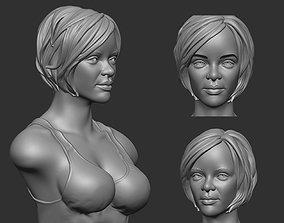 Rihanna bust 3D print model