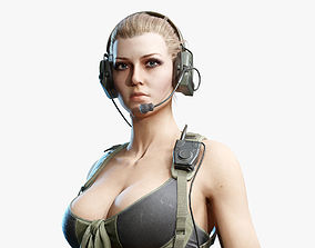 3D asset Army Girl 04