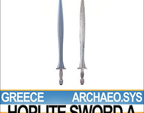 Greek Hoplite Sword Model A 3D
