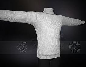 3D asset White Winter Turtleneck