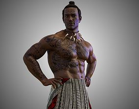 3D model Native Polynesian Male