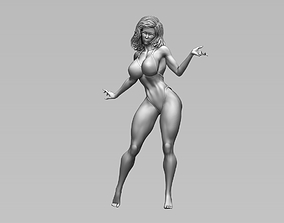 Beautiful Woman figure stand poses 3D print 3D model