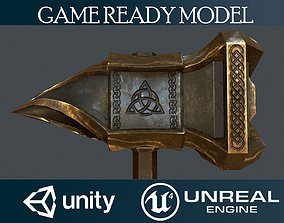Battle hammer 3D model game-ready