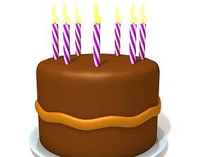 Birthday cake 03 3D model