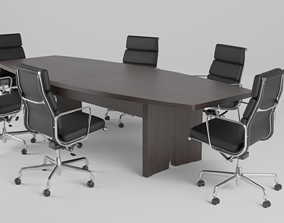Conference Table an Chair 3D asset