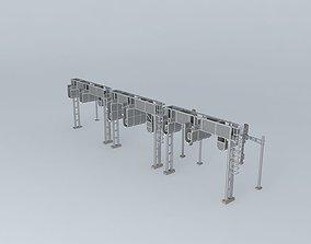 Swiss track objects 3D model