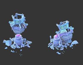 Cartoon Sky City - Izory Tower 02 3D model