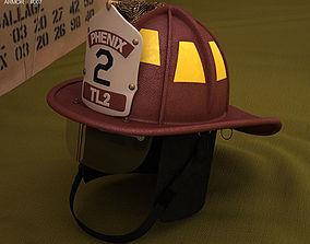 Firefighting Helmet 3D head