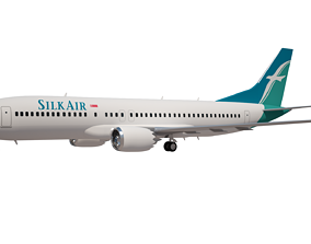 Silk Air Boeing 737 MAX 8 3D model