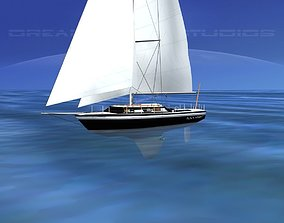 30 Foot Cutter Rigged Sloop V13 3D