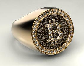 jewellery Bitcoin ring 3D print model