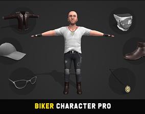 3D asset game-ready Biker Character Pro