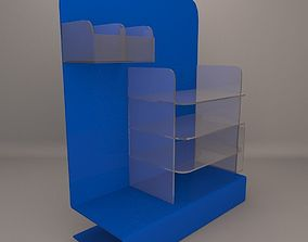 3D asset Product Display with brochure holder